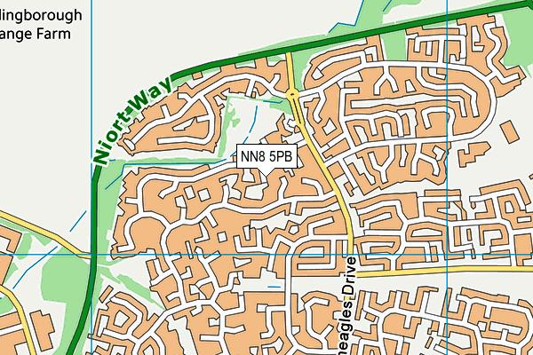 NN8 5PB map - OS VectorMap District (Ordnance Survey)
