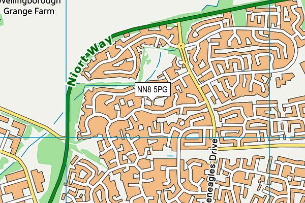 NN8 5PG map - OS VectorMap District (Ordnance Survey)