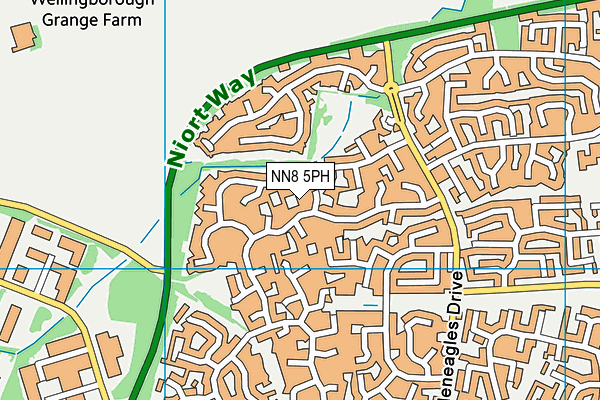 NN8 5PH map - OS VectorMap District (Ordnance Survey)