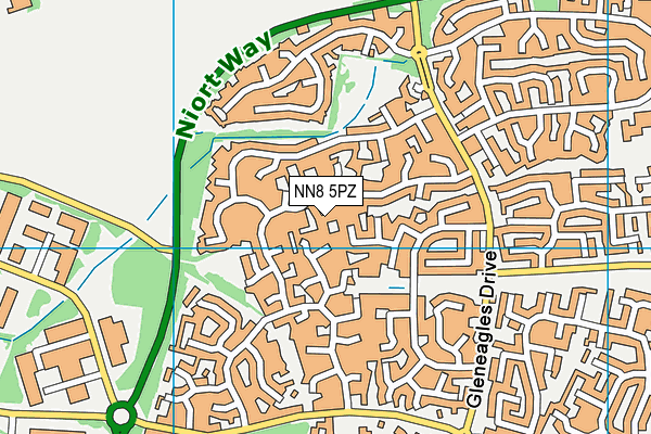 NN8 5PZ map - OS VectorMap District (Ordnance Survey)