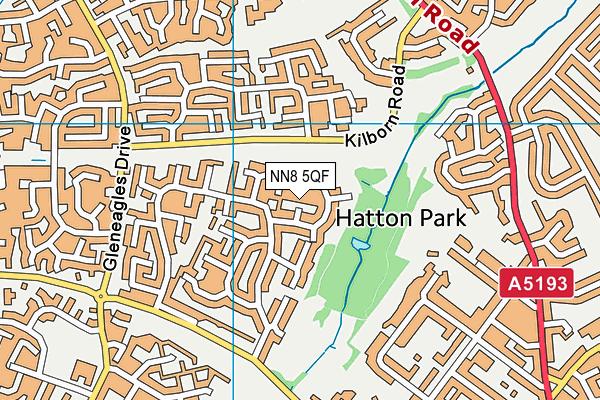 NN8 5QF map - OS VectorMap District (Ordnance Survey)