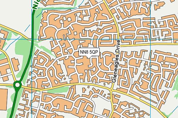 NN8 5QP map - OS VectorMap District (Ordnance Survey)