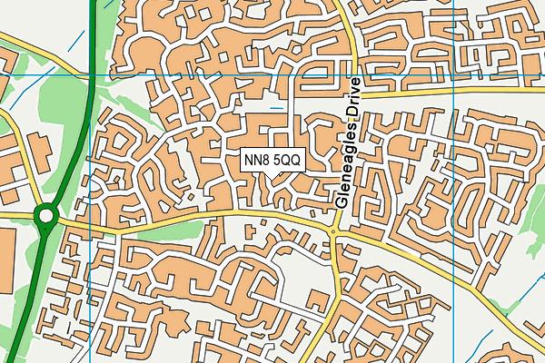 NN8 5QQ map - OS VectorMap District (Ordnance Survey)