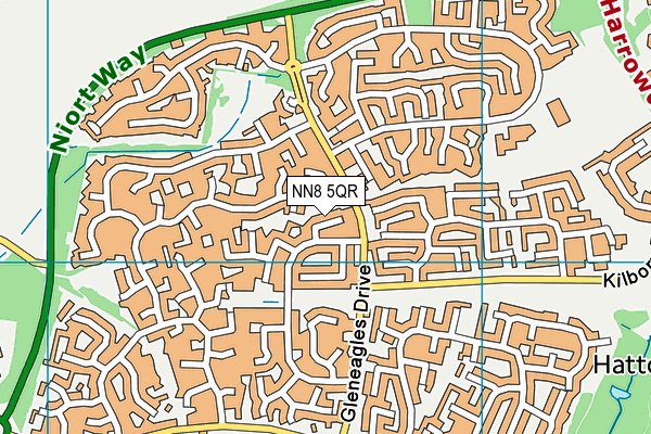 NN8 5QR map - OS VectorMap District (Ordnance Survey)