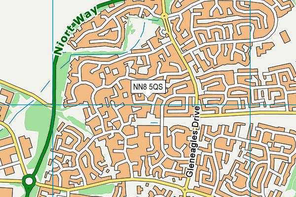 NN8 5QS map - OS VectorMap District (Ordnance Survey)