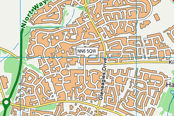 NN8 5QW map - OS VectorMap District (Ordnance Survey)