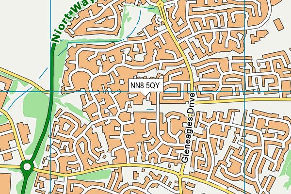 NN8 5QY map - OS VectorMap District (Ordnance Survey)