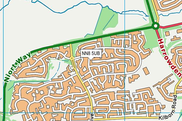 NN8 5UB map - OS VectorMap District (Ordnance Survey)