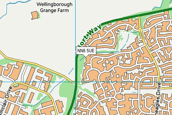 NN8 5UE map - OS VectorMap District (Ordnance Survey)
