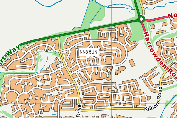 NN8 5UN map - OS VectorMap District (Ordnance Survey)