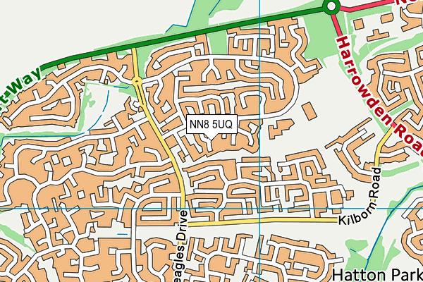NN8 5UQ map - OS VectorMap District (Ordnance Survey)