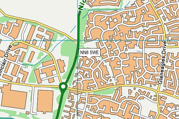 NN8 5WE map - OS VectorMap District (Ordnance Survey)