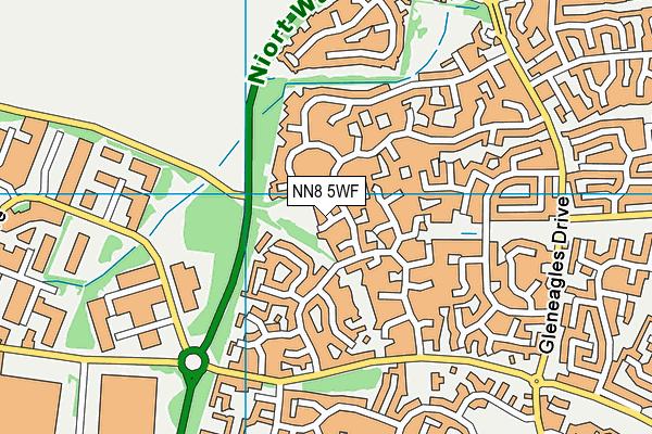 NN8 5WF map - OS VectorMap District (Ordnance Survey)