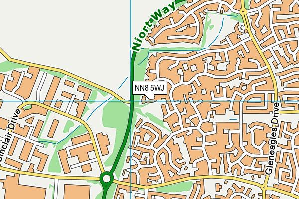 NN8 5WJ map - OS VectorMap District (Ordnance Survey)