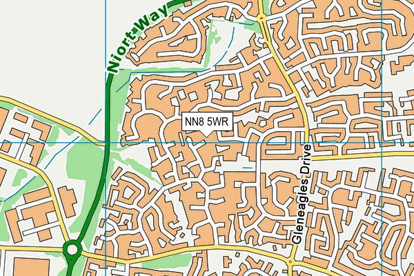 NN8 5WR map - OS VectorMap District (Ordnance Survey)