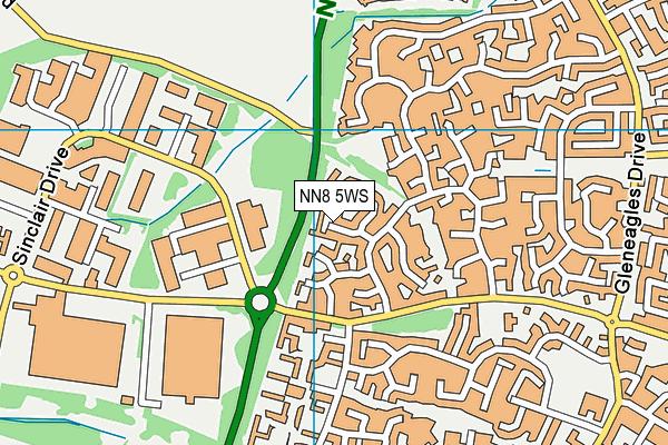 NN8 5WS map - OS VectorMap District (Ordnance Survey)