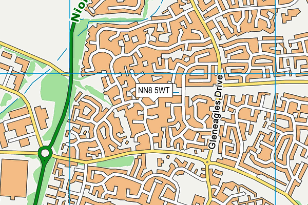 NN8 5WT map - OS VectorMap District (Ordnance Survey)