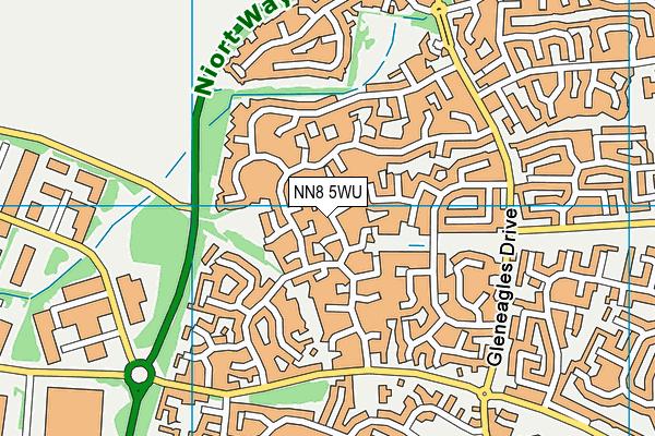 NN8 5WU map - OS VectorMap District (Ordnance Survey)