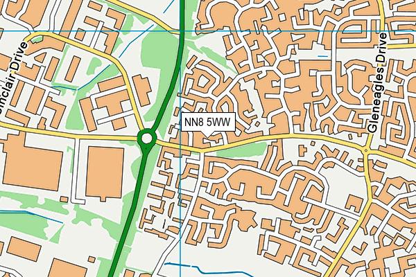 NN8 5WW map - OS VectorMap District (Ordnance Survey)