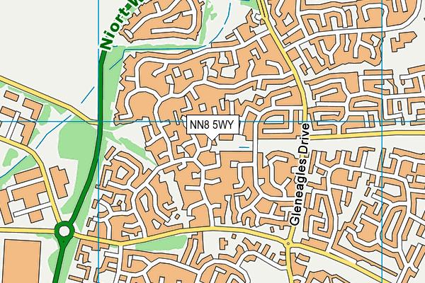 NN8 5WY map - OS VectorMap District (Ordnance Survey)