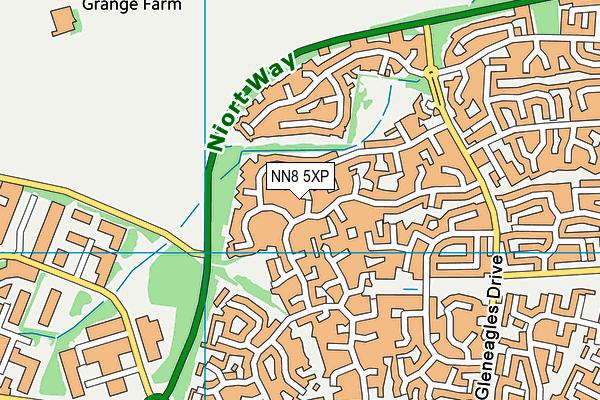 NN8 5XP map - OS VectorMap District (Ordnance Survey)