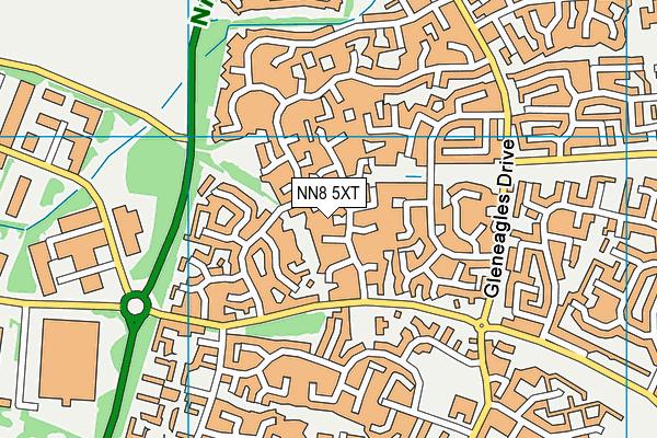NN8 5XT map - OS VectorMap District (Ordnance Survey)