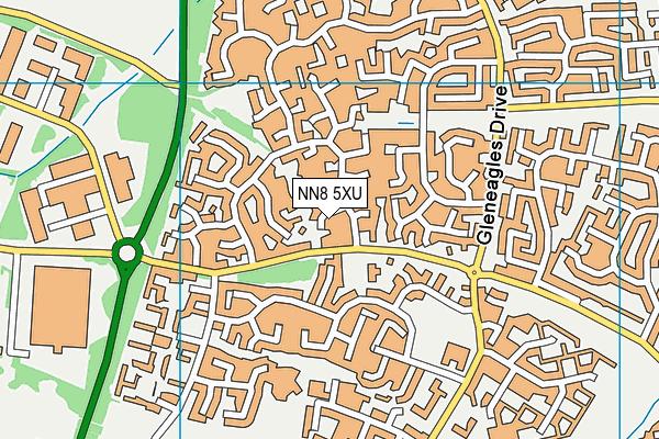 NN8 5XU map - OS VectorMap District (Ordnance Survey)
