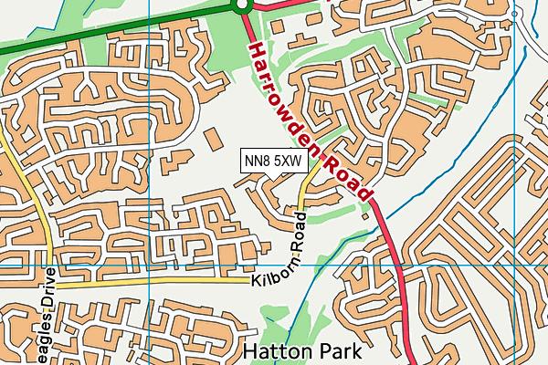 NN8 5XW map - OS VectorMap District (Ordnance Survey)