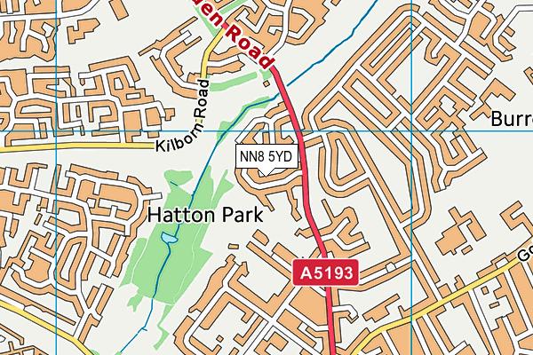 NN8 5YD map - OS VectorMap District (Ordnance Survey)