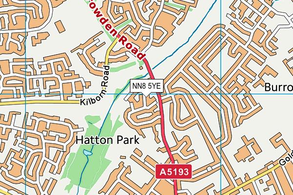 NN8 5YE map - OS VectorMap District (Ordnance Survey)