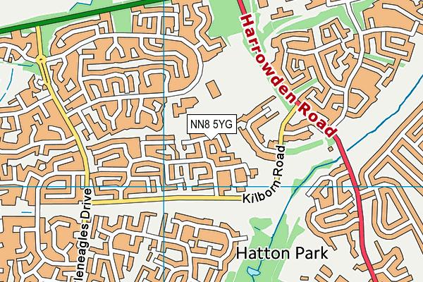 NN8 5YG map - OS VectorMap District (Ordnance Survey)