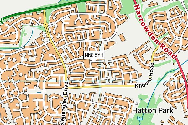 NN8 5YH map - OS VectorMap District (Ordnance Survey)