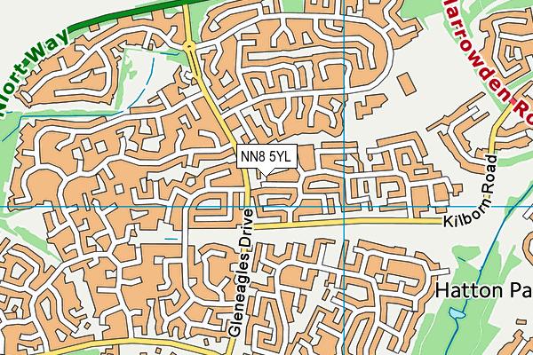 NN8 5YL map - OS VectorMap District (Ordnance Survey)