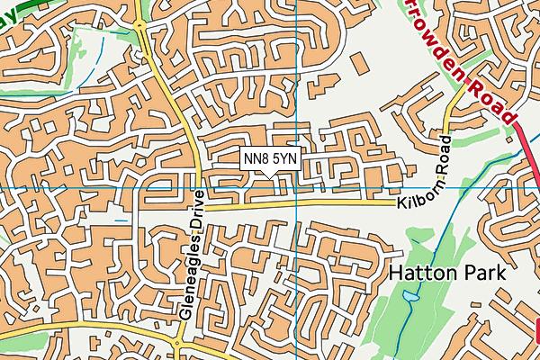 NN8 5YN map - OS VectorMap District (Ordnance Survey)