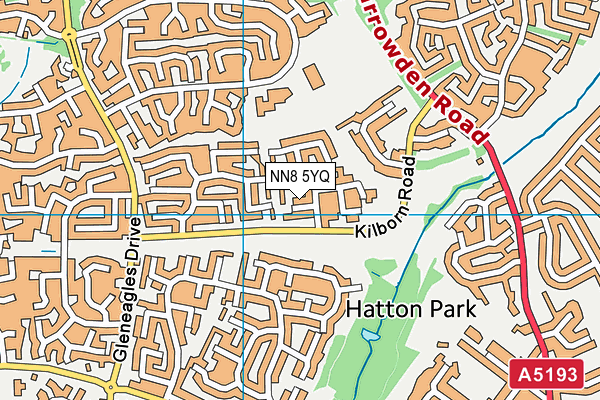 NN8 5YQ map - OS VectorMap District (Ordnance Survey)