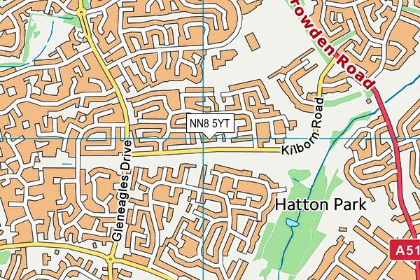 NN8 5YT map - OS VectorMap District (Ordnance Survey)