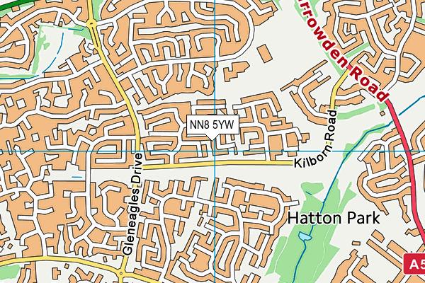 NN8 5YW map - OS VectorMap District (Ordnance Survey)