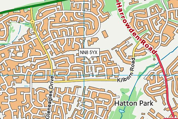 NN8 5YX map - OS VectorMap District (Ordnance Survey)