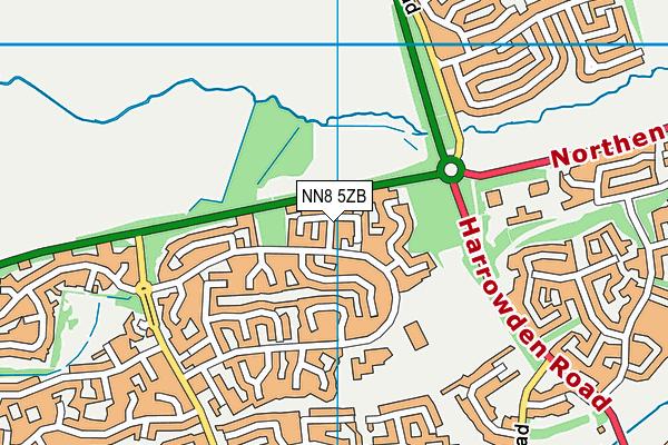 NN8 5ZB map - OS VectorMap District (Ordnance Survey)