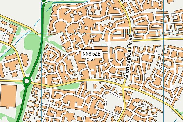 NN8 5ZE map - OS VectorMap District (Ordnance Survey)