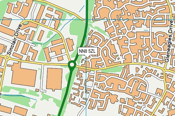 NN8 5ZL map - OS VectorMap District (Ordnance Survey)