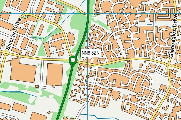 NN8 5ZN map - OS VectorMap District (Ordnance Survey)