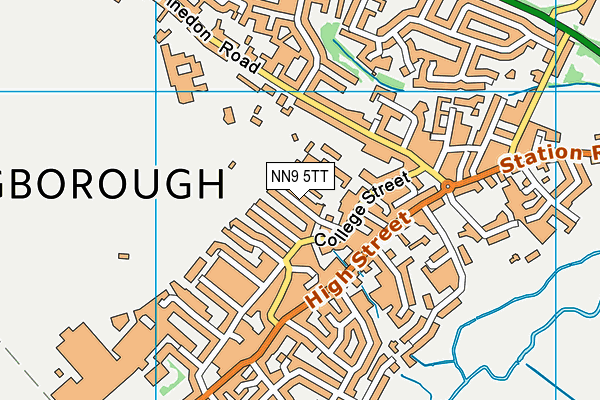 Irthlingborough Nursery and Infant School map (NN9 5TT) - OS VectorMap District (Ordnance Survey)