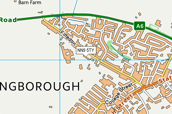 Huxlow Science College map (NN9 5TY) - OS VectorMap District (Ordnance Survey)