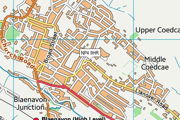 NP4 9HR map - OS VectorMap District (Ordnance Survey)