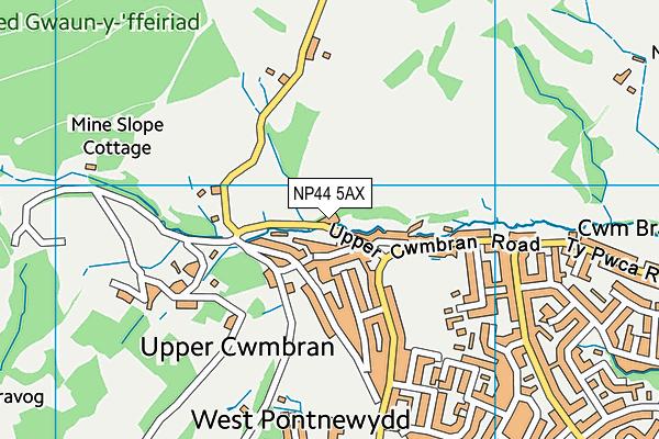 NP44 5AX map - OS VectorMap District (Ordnance Survey)