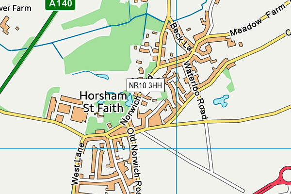 Map of ELM FARM COUNTRY HOUSE LIMITED at district scale