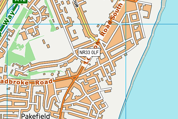 NR33 0LF map - OS VectorMap District (Ordnance Survey)