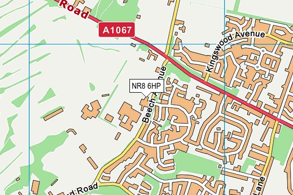 Taverham High School map (NR8 6HP) - OS VectorMap District (Ordnance Survey)