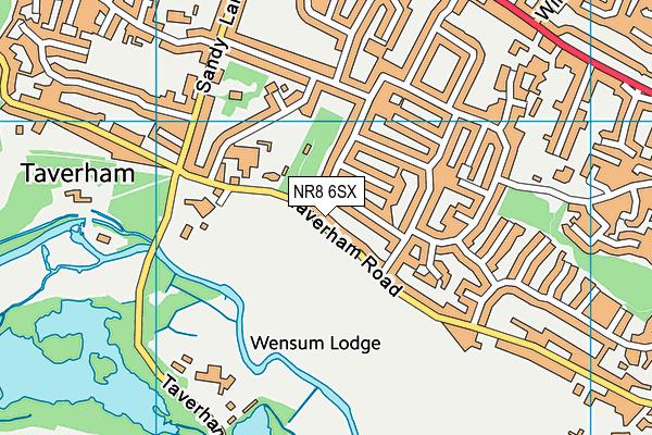 Taverham VC CE Junior School map (NR8 6SX) - OS VectorMap District (Ordnance Survey)